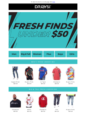 DrJays.com - Fresh Under $50!