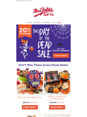 Mrs. Fields - (One) Day of the Dead Sale