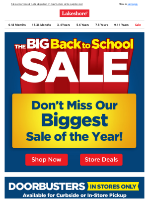 Lakeshore Learning - Our Biggest Sale of the Year Starts Now!