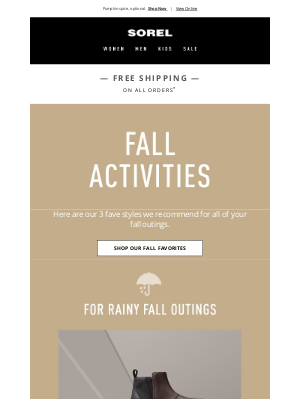 SOREL - Faves for your fall activities.