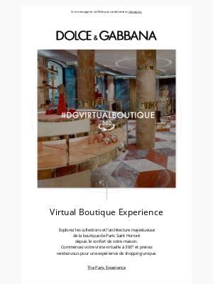 Dolce & Gabbana - #DGVIRTUALBOUTIQUE: découvrez la Virtual Boutique de Paris