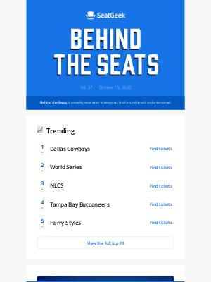 SeatGeek - Behind the Seats, Vol. 27