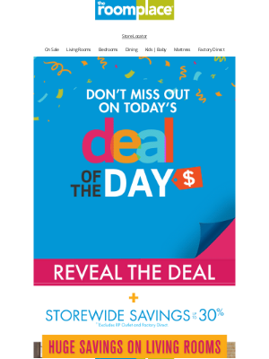 The RoomPlace - 📢 TUESDAY'S Deal of the Day is found HERE! 📢