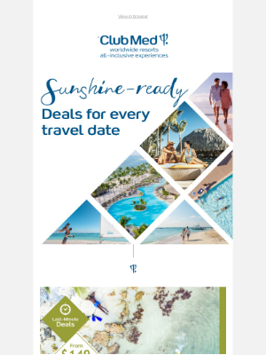 Club Med - We've got a sale for every travel date 😜