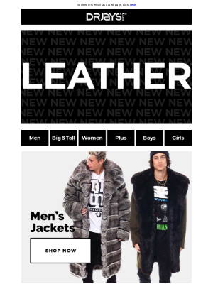 DrJays.com - New Outerwear! Shop bombers, moto jackets, fur-lined coats…