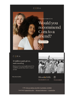 Cora review emails