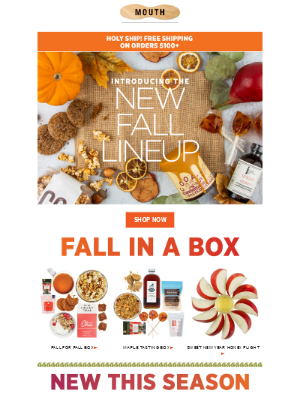 The new fall lineup is here!