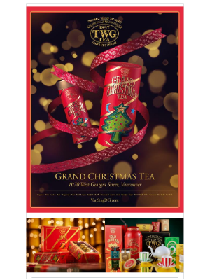 TWG Tea Canada - Happy Holidays from everyone here