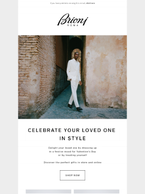 Brioni - Valentine's day, from Rome with love