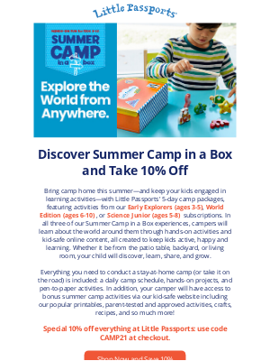 Little Passports, Inc. - Keep Your Kids Engaged This Summer With Summer Camp in a Box