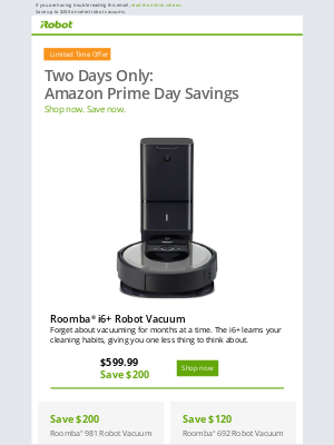 iRobot - It's Amazon Prime Day: Don't miss these iRobot deals!