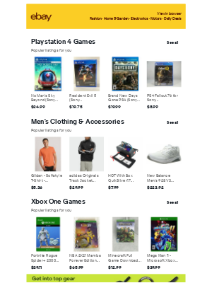 eBay - PlayStation 4 Games & Men's Clothing & Accessories - shopping ideas for you to consider 💡