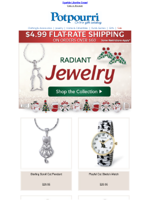 Potpourri Online Catalog - You'll Sparkle This Christmas ✨ Shop Jewelry