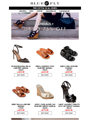 Bluefly - Up to 75% Off Shoes + Don't Miss Out On FLASH Deals