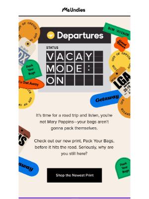 MeUndies - New Print: Pack Your Bags ✈️🚗🧳