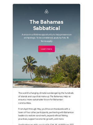 The Bahamas: Help local experts preserve the islands' ecosystem