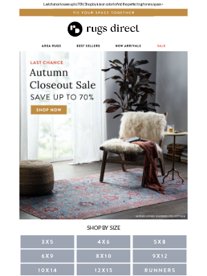Rugs Direct - Going, Going...Autumn Savings Are Almost Gone! 🍂