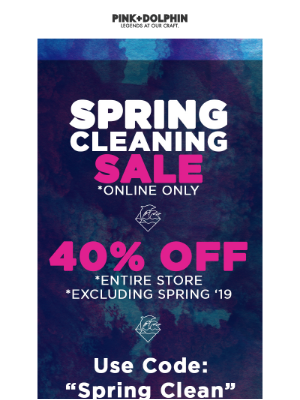 40% Off Entire Online Store! *Excluding Spring 2019