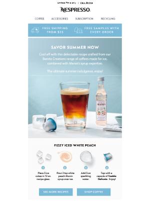 Nespresso (UK) - Our Treat: Iced recipe + FREE sleeve