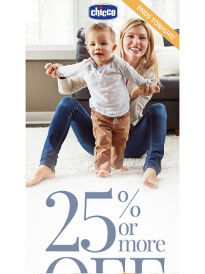 Chicco USA - LAST CHANCE: 25% or more OFF All On Sale Items + Free Shipping!