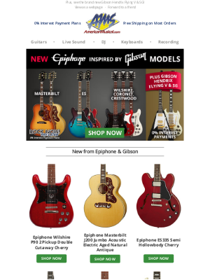 American Musical Supply - New from Epiphone! Inspired by Gibson Models, Look Now & Get Yours First
