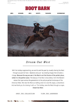 Boot Barn - Dream Out West
