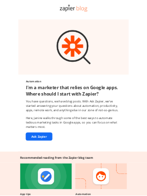 Zapier - Automating Google apps for marketing: Where should you start?