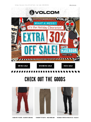 Volcom - LAST DAY to take an EXTRA 30% off Sale!