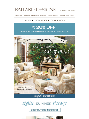 Ballard Designs - Easy Summer Storage Solutions