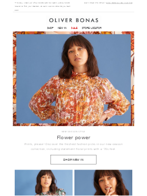 Oliver Bonas - New Fashion   Prints, please