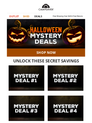 Hurry! Halloween Mystery Deals Are Almost Over