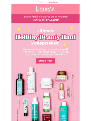 Benefit Cosmetics - OMG! Win over $1,000 in prizes! 🎉