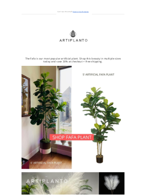 artiplanto - ⌛ Save On Our BEST SELLING 5 Foot Plant!