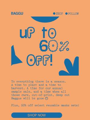 BAGGU - Online Sample Sale!
