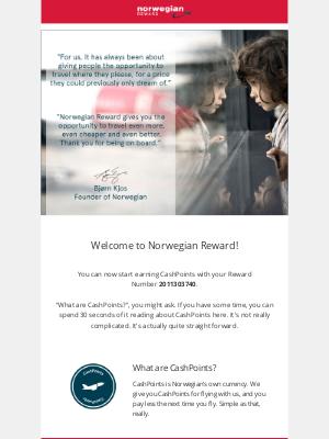 Norwegian Air Shuttle - Welcome to Norwegian Reward