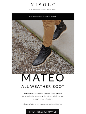 Nisolo - New Color | Mateo All Weather Boot