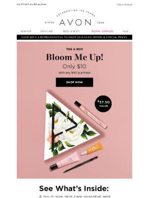 Avon - A New A Box Has Bloomed