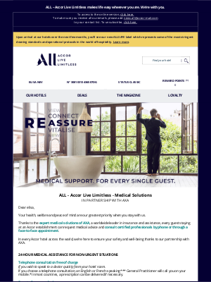 Fairmont Hotels - elisa, discover ALL – Accor Live Limitless - Medical solutions in partnership with AXA