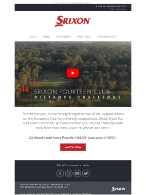 Srixon - The 14-Club Distance Challenge | Srixon