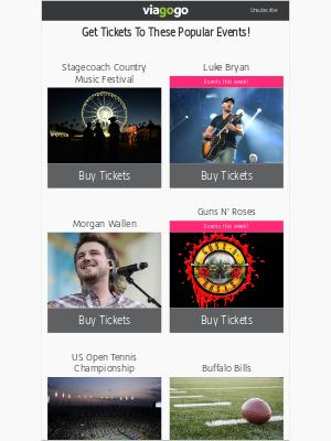 viagogo - Stagecoach Country Music Festival, Luke Bryan, Morgan Wallen...