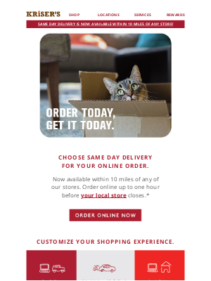 Kriser's Natural Pet - Need It Today? Try Same Day Delivery!
