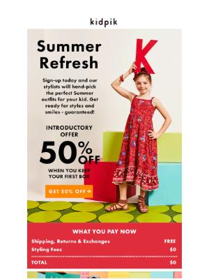Kidpik - Summer Refresh!