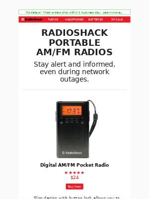 RadioShack - RadioShack Portable AM/FM Radios