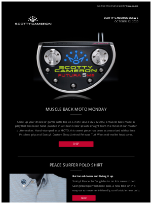 Scotty Cameron - Scotty Cameron Enews - MOTO Monday Gallery Release - October 12, 2020