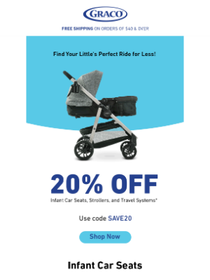 Graco Baby Products - Your 20% off code is waiting!