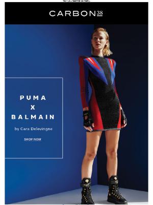 Puma x Balmain by Cara Delevingne.