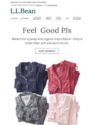 L.L.Bean - Super-Soft PJs in NEW Styles & Colors