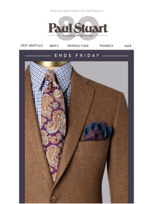 3 Days of 20% off: Select Tailored Clothing