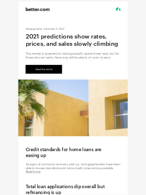 Better - Mortgage News: Expect rates to rise gradually in 2021