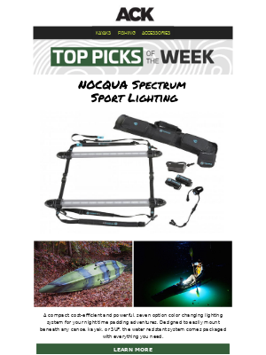 Austin Kayak - Fish Early Mornings & Late Nights with NOCQUA Spectrum Sport Lighting || Shop NEW Top Picks of the Week